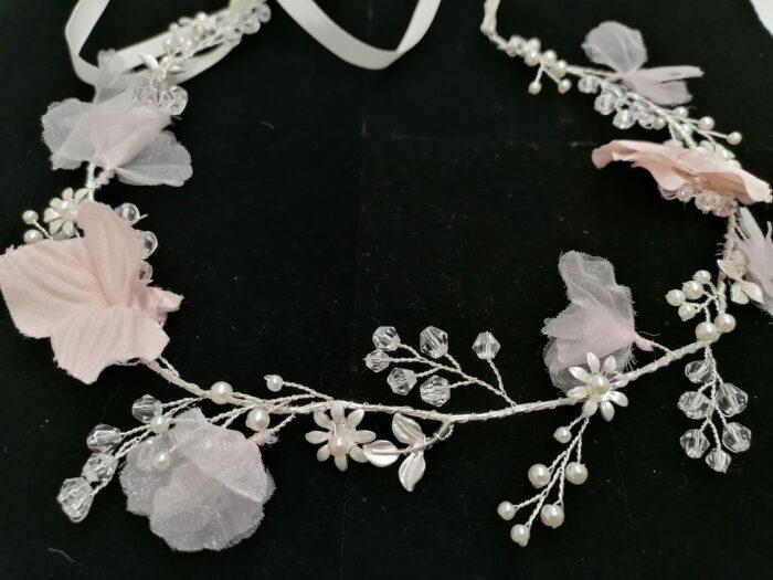 Fairy Blush Silver Haarkranz