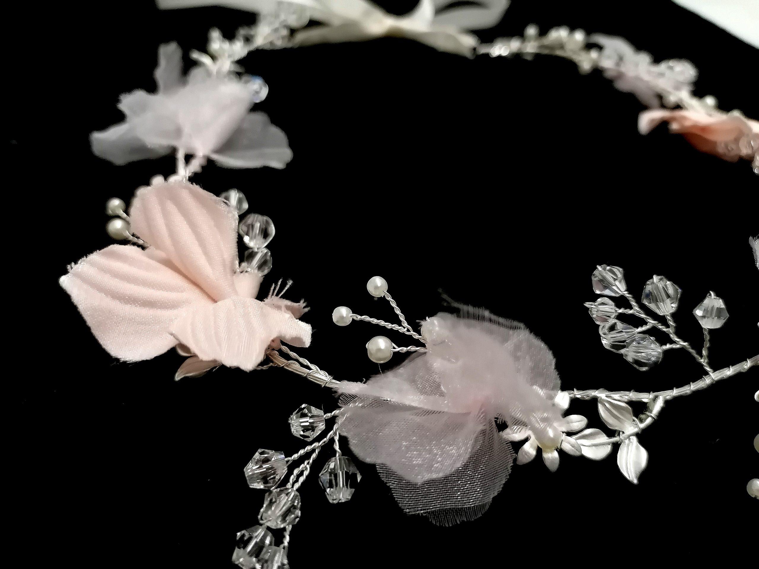 Fairy Blush Silver Hairvine